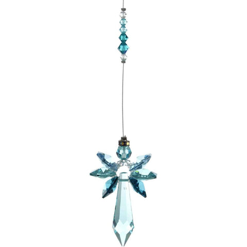 Blue Zircon Radiant Gaurdian Angel