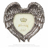 Angel wings, heart shaped photo frame