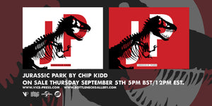 Jurassic Park Logo Official Licensed Chip Kidd Original Poster Print Art Vice Press Bottleneck Gallery Red