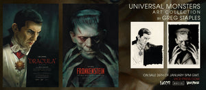 Greg Staples Dracula Frankenstein Vice Press Universal Monsters Movie Poster