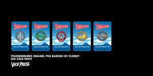 Thunderbirds TB Official Licensed Gerry Anderson Enamel Pin Badge Set Vice Press Florey