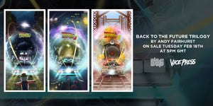 Back to the future trilogy poster Andy Fairhurst