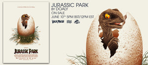 jurassic park doaly screen print poster