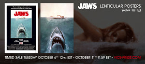 VP x BNG Presents - Jaws 3D Lenticular Movie Poster & Art Print