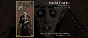 Nosferatu Screenprint by Chris Weston