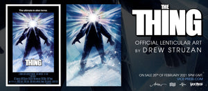 The Thing Drew Struzan Lenticular Banner Vice Press