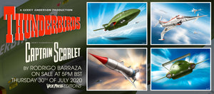 Thunderbirds Captain Scarlet Art Prints Pin Badges