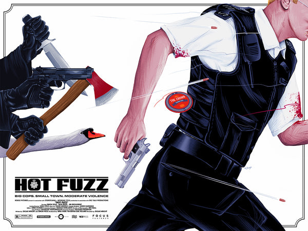 Hot Fuzz Alternative Movie Poster Doaly Variant