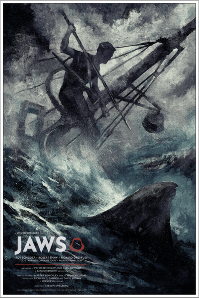 Jaws Karl Fitzgerald Alternative Movie Poster