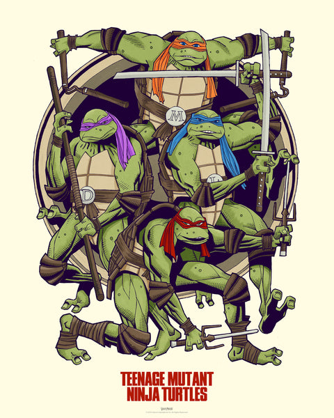 TMNT Teenage Mutant Ninja Turtles Official Licensed Limited Edition Art Print Poster Mick McMahon Vice Press Bottleneck Gallery