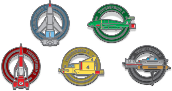 Thunderbirds Pin Badge Set Gerry Anderson