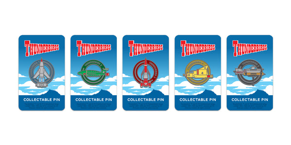 Thunderbirds Pin Badge Set Florey