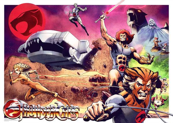 Thundercats Official Licensed Limited Edition Art Print Poster Henrik Sahlstrom Vice Press Bottleneck Gallery