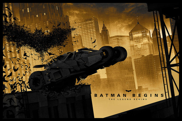 batman begins gold foil variant Matt Ferguson alternative movie poster