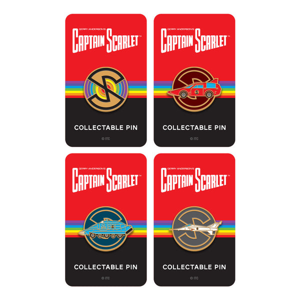 Captain Scarlet and the Mysterons limited edition enamel pin badge set Florey
