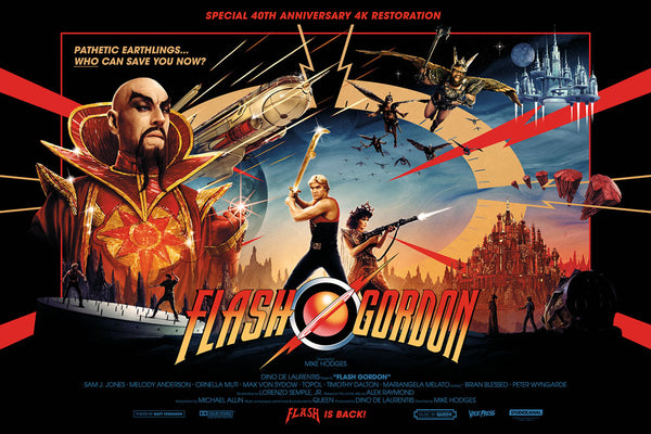 Flash Gordon quad Matt Ferguson Alternative Movie Poster