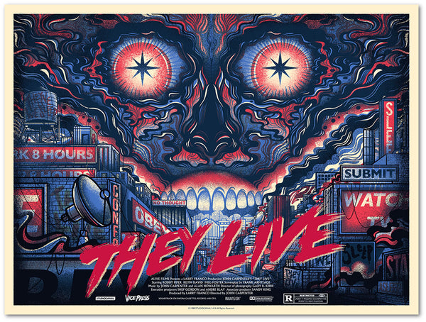 they live drew millward screen print poster vice press