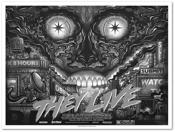 they live variant drew millward screen print poster vice press