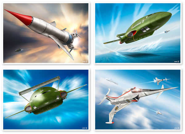 In Action Captain Scarlet Thunderbirds Limited Edition Prints Rodrigo Barraza