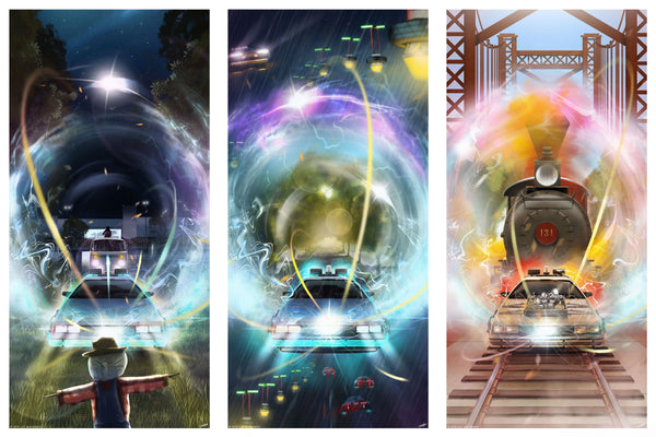 Andy Fairhurst BTTF Back To The Future Time Jump Variant Poster Set