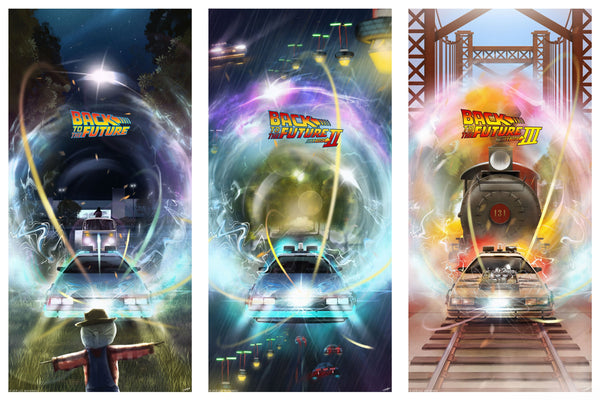 Andy Fairhurst BTTF Back To The Future Time Jump Poster Set