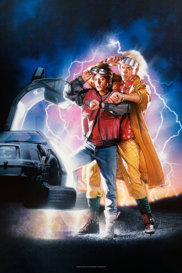 Back To The Future Part II Art Print (Signed)