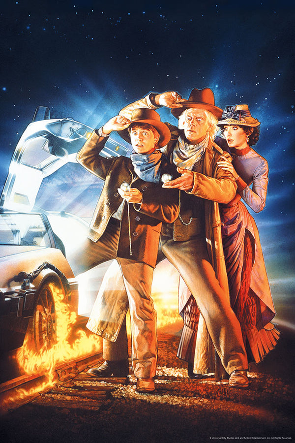 Back to the future part 3 art print drew struzan