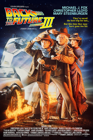 back to the future part 3 drew struzan film poster screen print