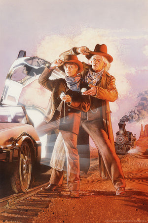 back to the future part 3 variant art print drew struzan