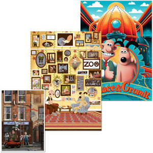 Wallace & Gromit Vice Press Aardman art print poster
