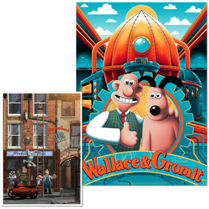 wallace & gromit art print poster vice press