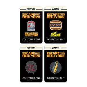 escape from new york enamel pin badge set florey vice press