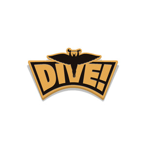flash gordon dive enamel pin florey vice press