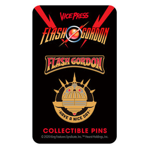 flash gordon nice day enamel pin set florey vice press