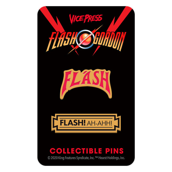 flash gordon queen enamel pin set florey vice press