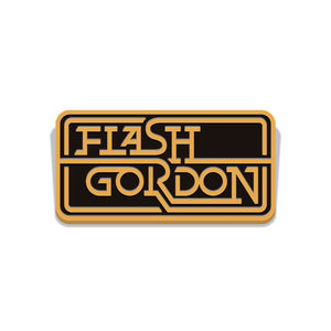 flash gordon retro logo enamel pinflorey vice press