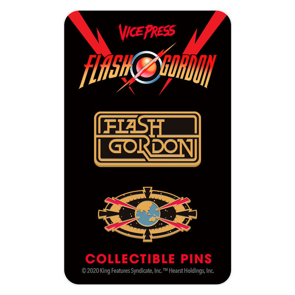 flash gordon target earth enamel pin set florey vice press