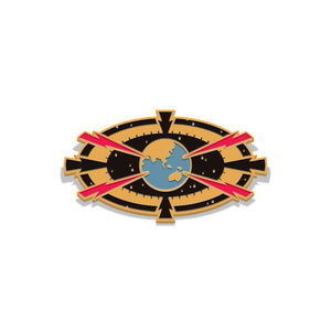 flash gordon target earth enamel pin florey vice press