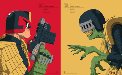 Face Offs - Judge Dredd and Judge Death set