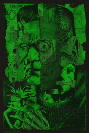 Frankenstein Anthony Petrie Glow in dark alternative movie poster