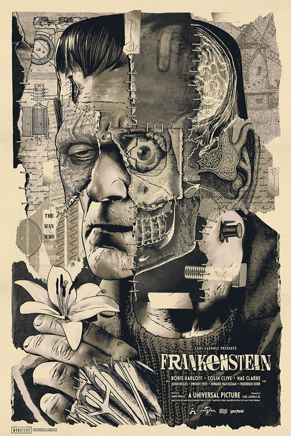 Frankenstein Variant Anthony Petrie Alternative Movie Poster