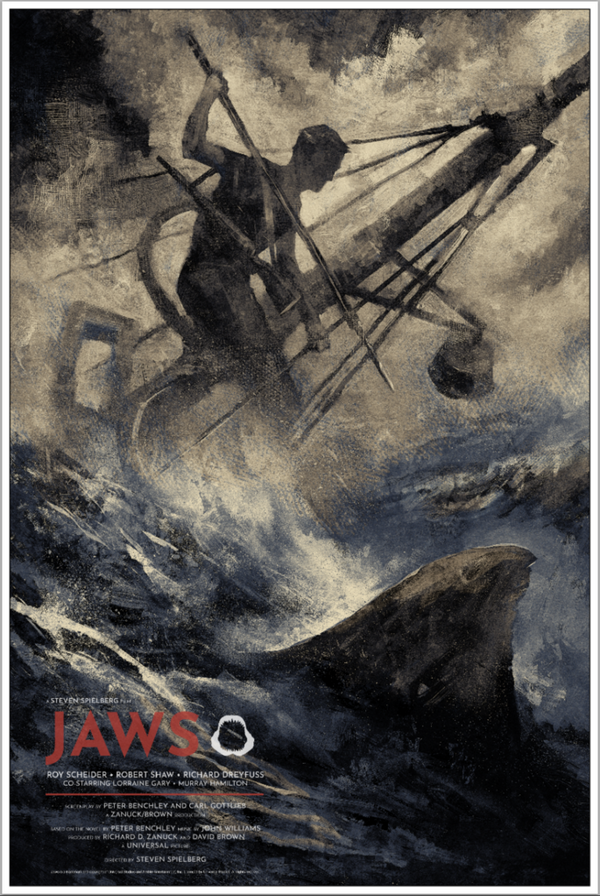 Jaws Karl Fitzgerald Alternative Movie Poster Variant