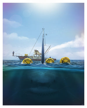 Jaws andy fairhurst art print vice press