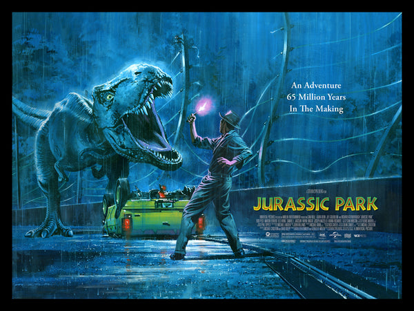 Jurassic Park Paul Mann Alternative Movie Poster Quad Variant