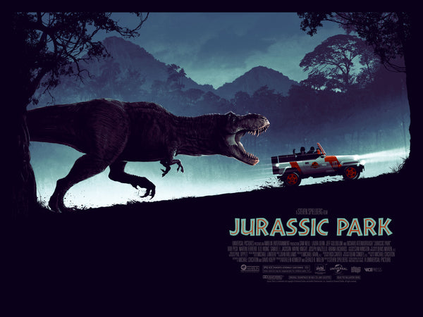 Jurassic Park Alternative Movie Poster Matt Ferguson Quad