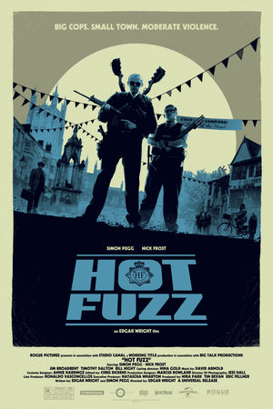 Matt Ferguson Hot Fuzz Alternative Movie Poster Variant