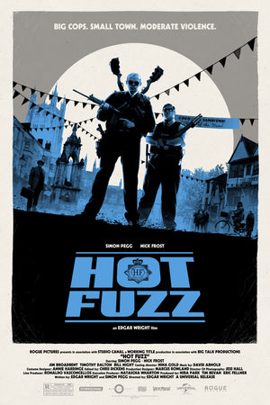 Matt Ferguson Hot Fuzz Alternative Movie Poster