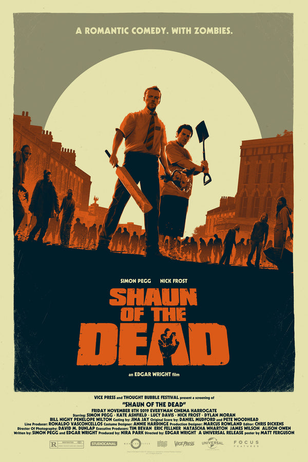 Shaun of the Dead Matt Ferguson Alternative Movie Poster Variant