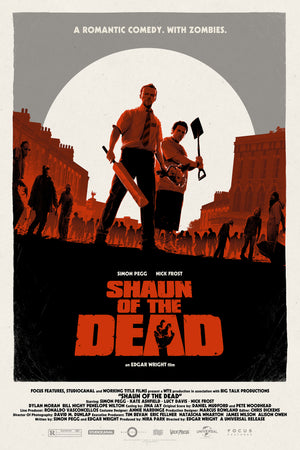 Shaun of the Dead Matt Ferguson Alternative Movie Poster