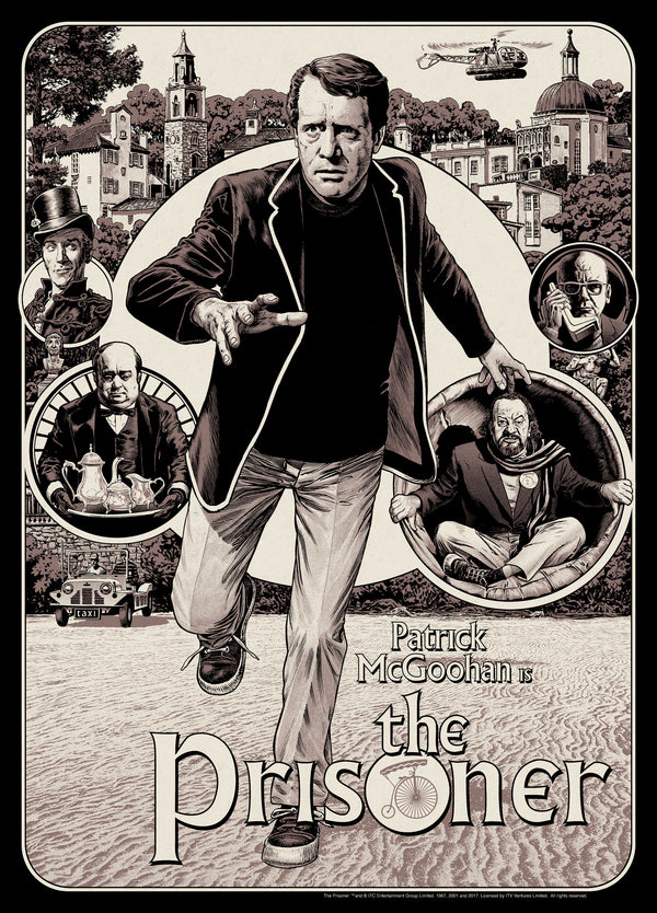 The Prisoner Official Licensed Limited Edition screen printed art poster Chris Weston Vice Press Variant